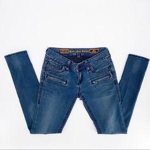 ROCK & REVIVAL Blue Noa Skinny Distressed Jean